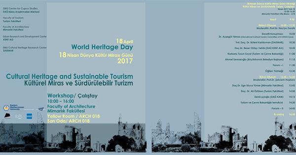 World Heritage Day 2017, cultural heritage and sustainable tourism