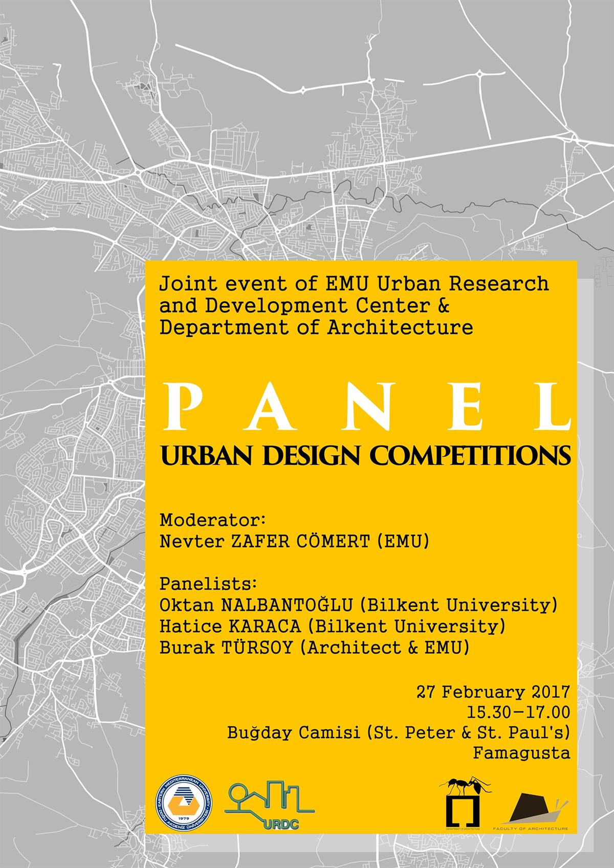 PANEL:  URBAN DESIGN COMPETITIONS