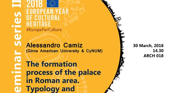 2018, European Year of Cultural Heritage Seminar series II